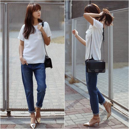 'Chất lừ' với quần jeans dáng thụng - 3