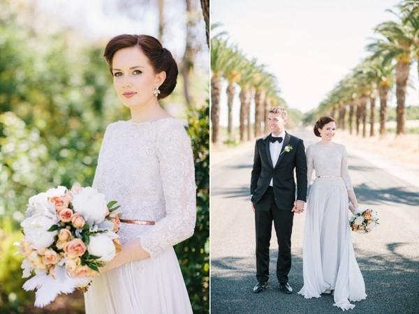 Xu hướng váy cưới dài tay cho mùa đông lạnh giá 9