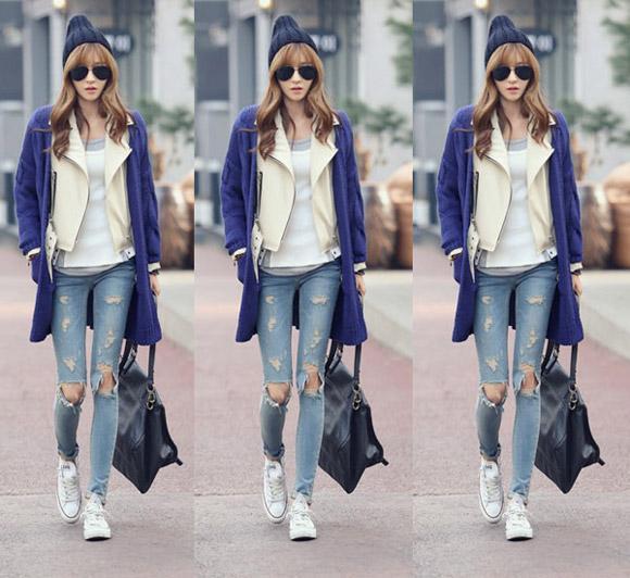 Khẳng định phong cách bụi phủi với quần jeans rách