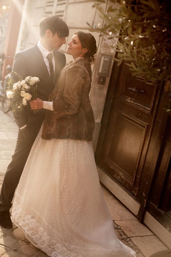Ấm áp mà vẫn đẹp lộng lẫy với áo khoác cưới mùa đông 2013 10