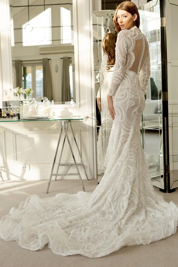 Xu hướng váy cưới dài tay cho mùa đông lạnh giá 15