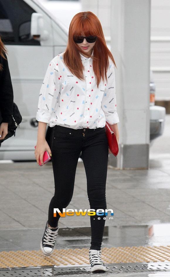Thời trang sân bay mùa xuân của sao Hàn