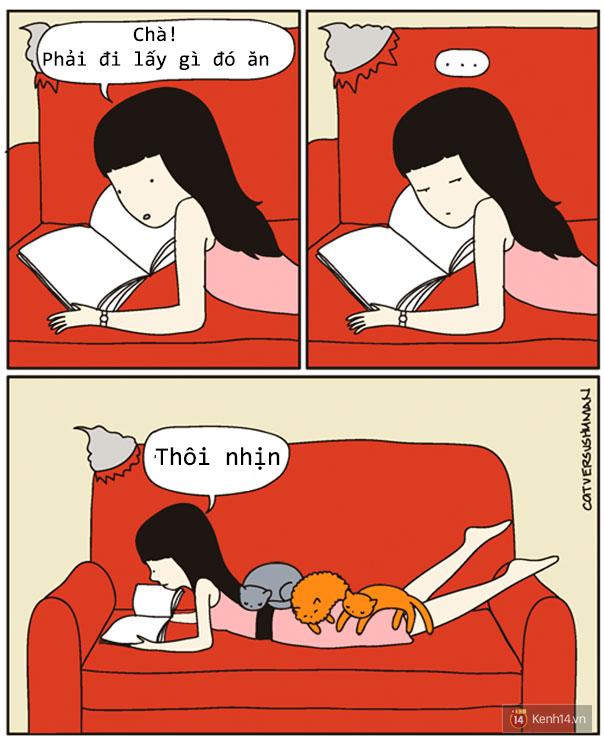 Bộ tranh: Chỉ những ai nuôi mèo mới có thể hiểu sâu sắc những tình cảnh này - Ảnh 7.