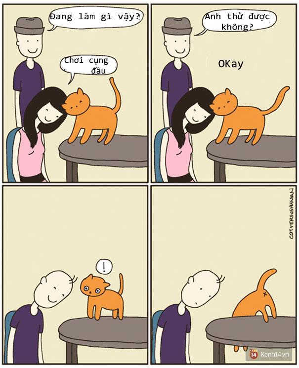 Bộ tranh: Chỉ những ai nuôi mèo mới có thể hiểu sâu sắc những tình cảnh này - Ảnh 14.