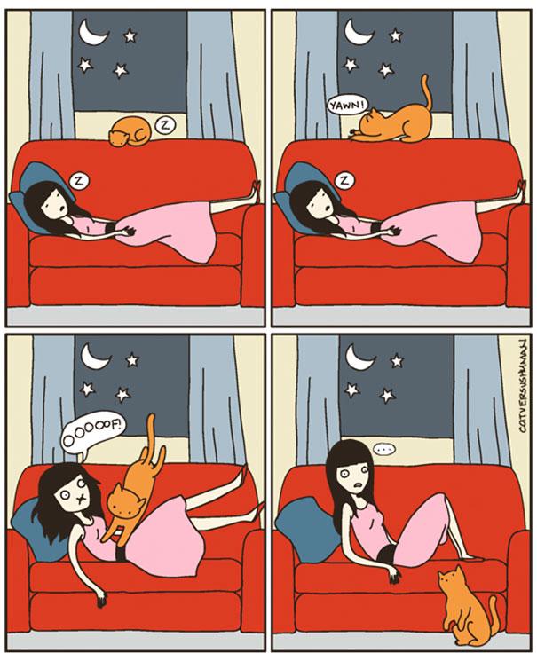 Bộ tranh: Chỉ những ai nuôi mèo mới có thể hiểu sâu sắc những tình cảnh này - Ảnh 11.