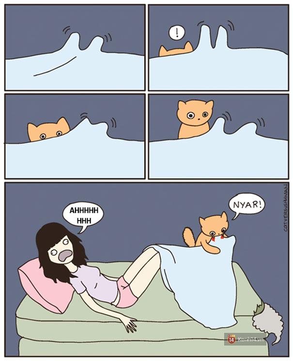 Bộ tranh: Chỉ những ai nuôi mèo mới có thể hiểu sâu sắc những tình cảnh này - Ảnh 15.