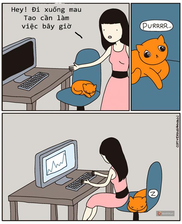 Bộ tranh: Chỉ những ai nuôi mèo mới có thể hiểu sâu sắc những tình cảnh này - Ảnh 6.