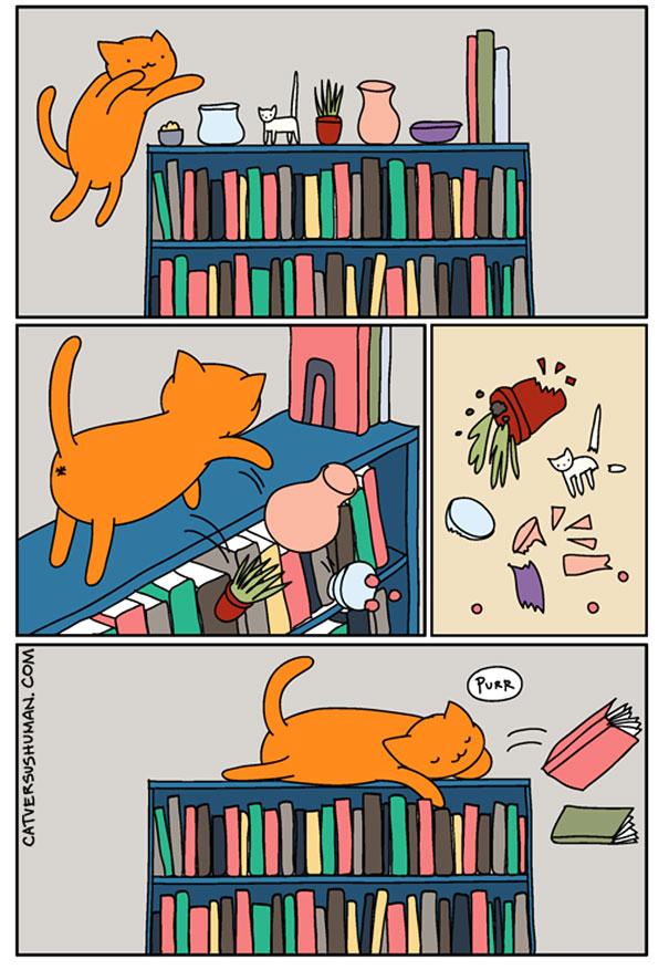 Bộ tranh: Chỉ những ai nuôi mèo mới có thể hiểu sâu sắc những tình cảnh này - Ảnh 2.