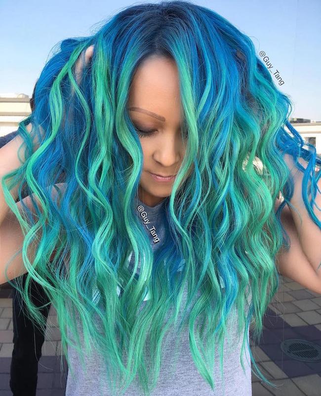 Dù bị bố mẹ mắng nhưng vẫn phải công nhận tóc nhuộm kiểu nàng tiên cá đẹp quá - Ảnh 2.