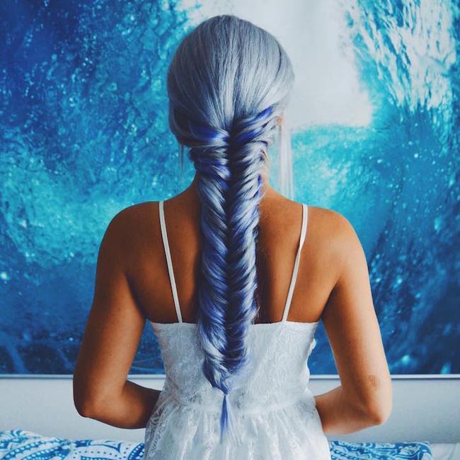 Dù bị bố mẹ mắng nhưng vẫn phải công nhận tóc nhuộm kiểu nàng tiên cá đẹp quá