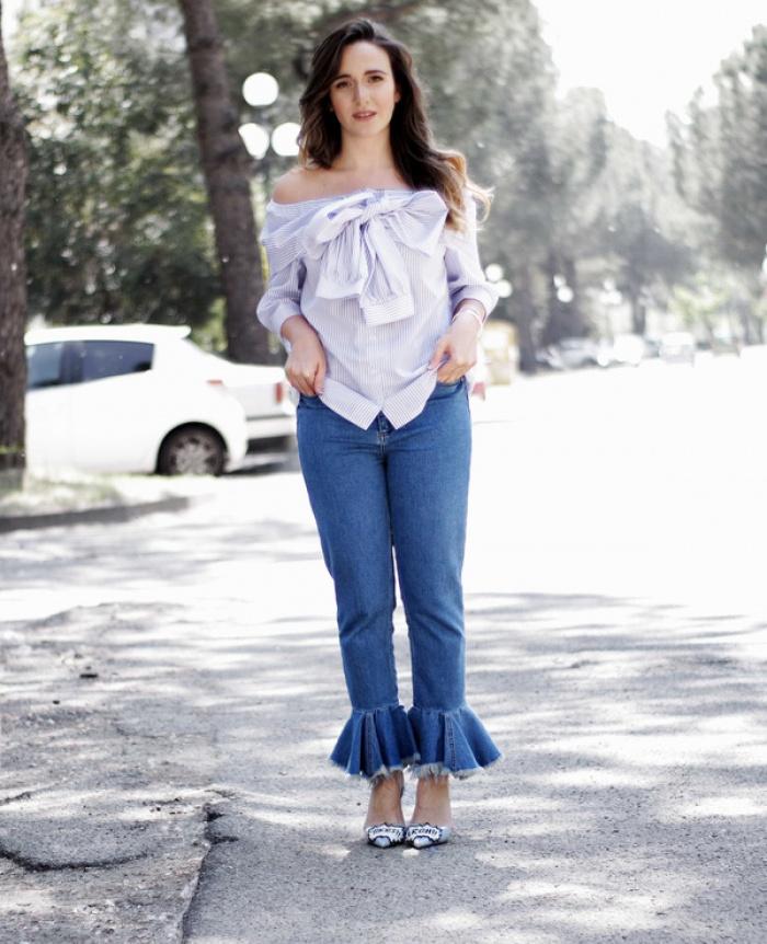 quần jeans ống loe chuông