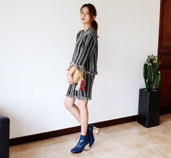 """Hướng dẫn cách mix đồ thời trang thu đông hợp GUU cho nàng """"eo bánh mì"""""""