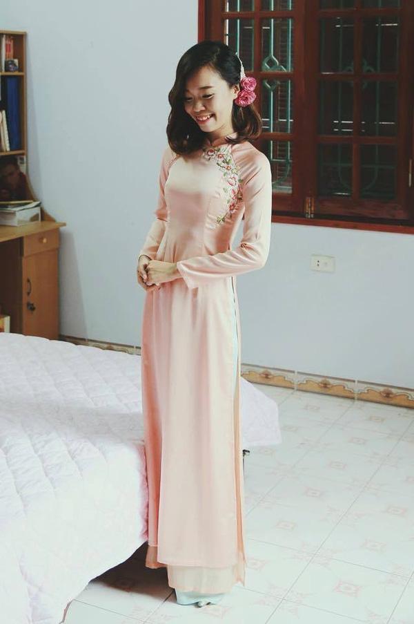 Áo dài thêu giúp cô dâu Việt đẹp nhất mùa cưới 2016