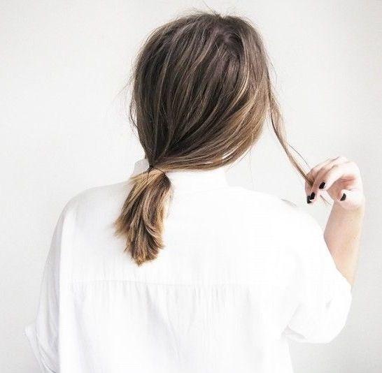 Tóc đuôi ngựa buộc thấp
