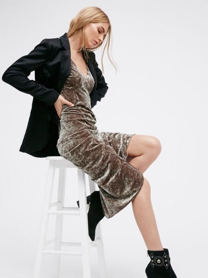 Velvet Slip Dresses
