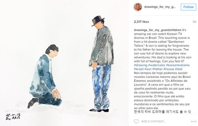 Những bức vẽ ông dành cho các cháu: Câu chuyện cảm động chạm đến trái tim hàng triệu người trên Instagram - Ảnh 7.
