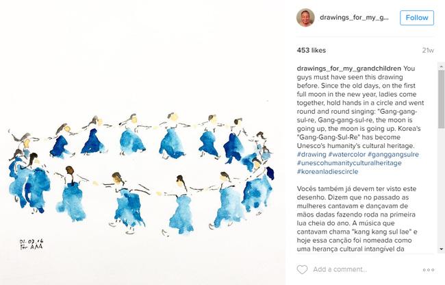Những bức vẽ ông dành cho các cháu: Câu chuyện cảm động chạm đến trái tim hàng triệu người trên Instagram - Ảnh 5.