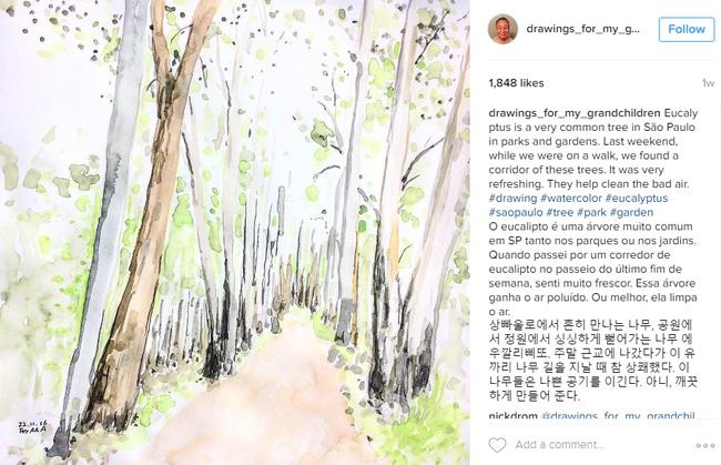 Những bức vẽ ông dành cho các cháu: Câu chuyện cảm động chạm đến trái tim hàng triệu người trên Instagram - Ảnh 8.