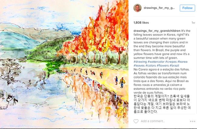Những bức vẽ ông dành cho các cháu: Câu chuyện cảm động chạm đến trái tim hàng triệu người trên Instagram - Ảnh 9.