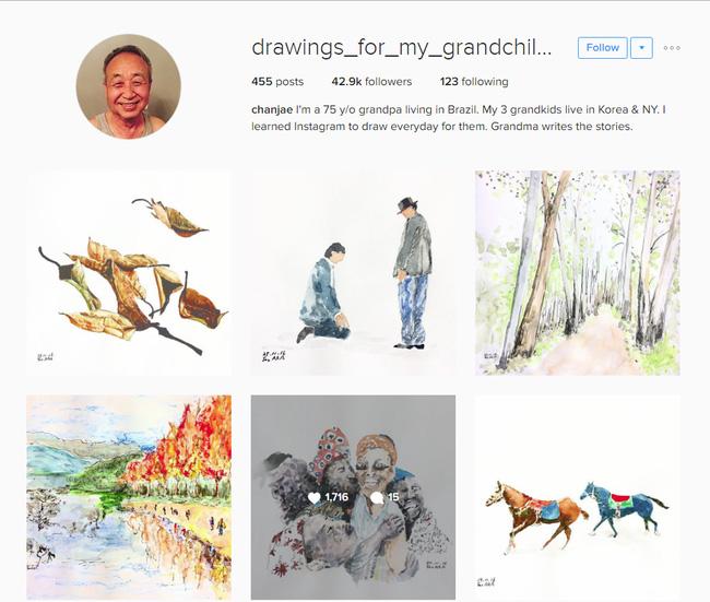 Những bức vẽ ông dành cho các cháu: Câu chuyện cảm động chạm đến trái tim hàng triệu người trên Instagram - Ảnh 4.