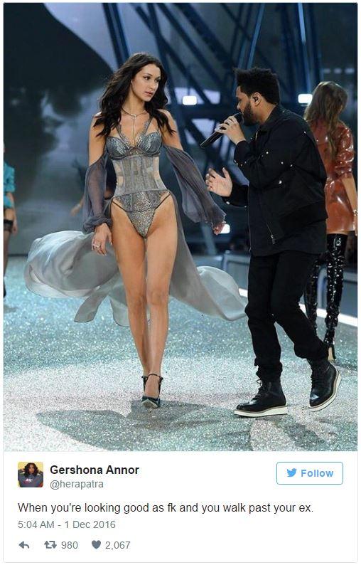 Khoảnh khắc gặp lại bồ cũ của Bella Hadid và The Weeknd tại Victorias Secret khiến dân mạng bình luận rầm rộ - Ảnh 9.