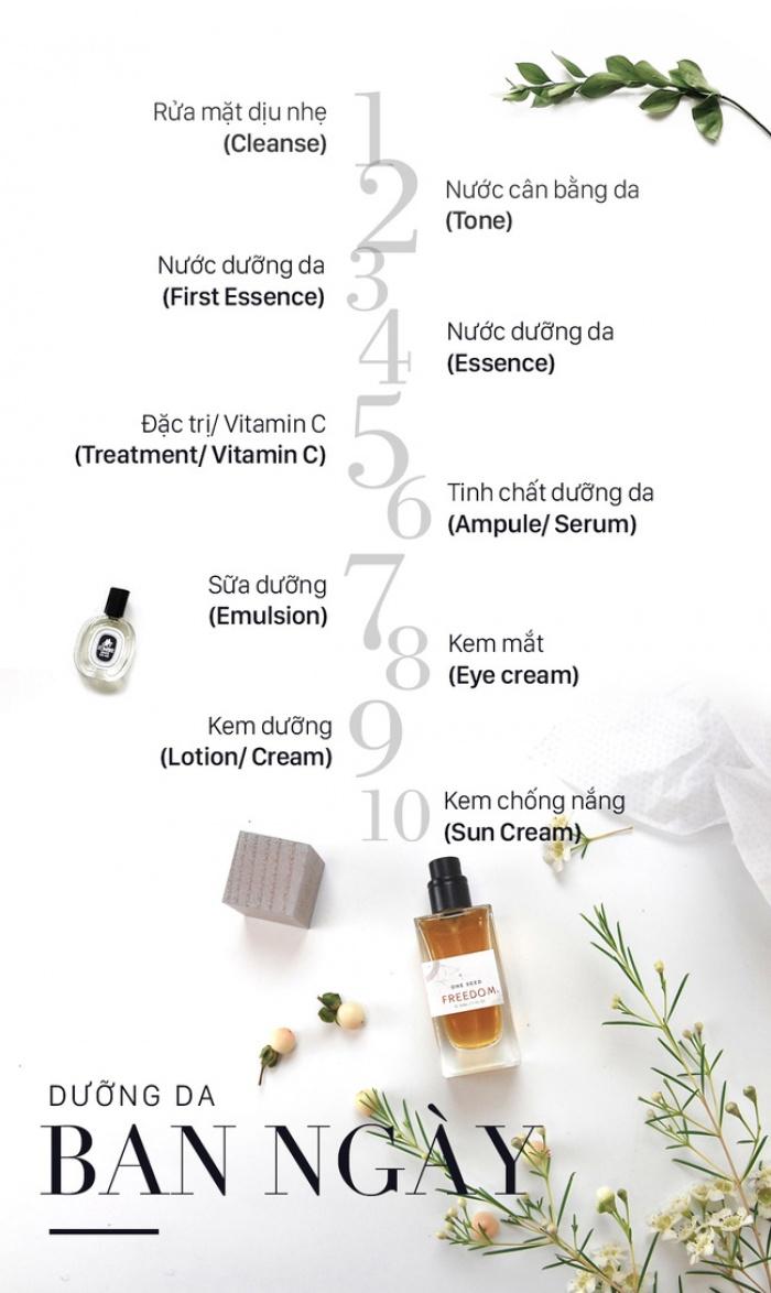 Quy trình dưỡng cho làn da căng bóng, mịn màng đúng chuẩn Hàn Quốc