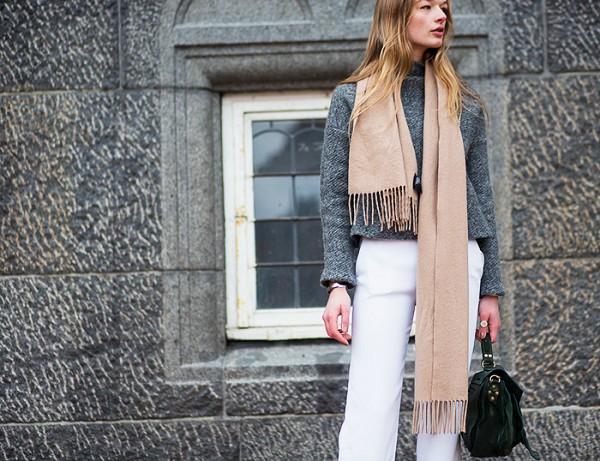 8 cách thắt khăn quàng cổ thời thượng cho phái nữ