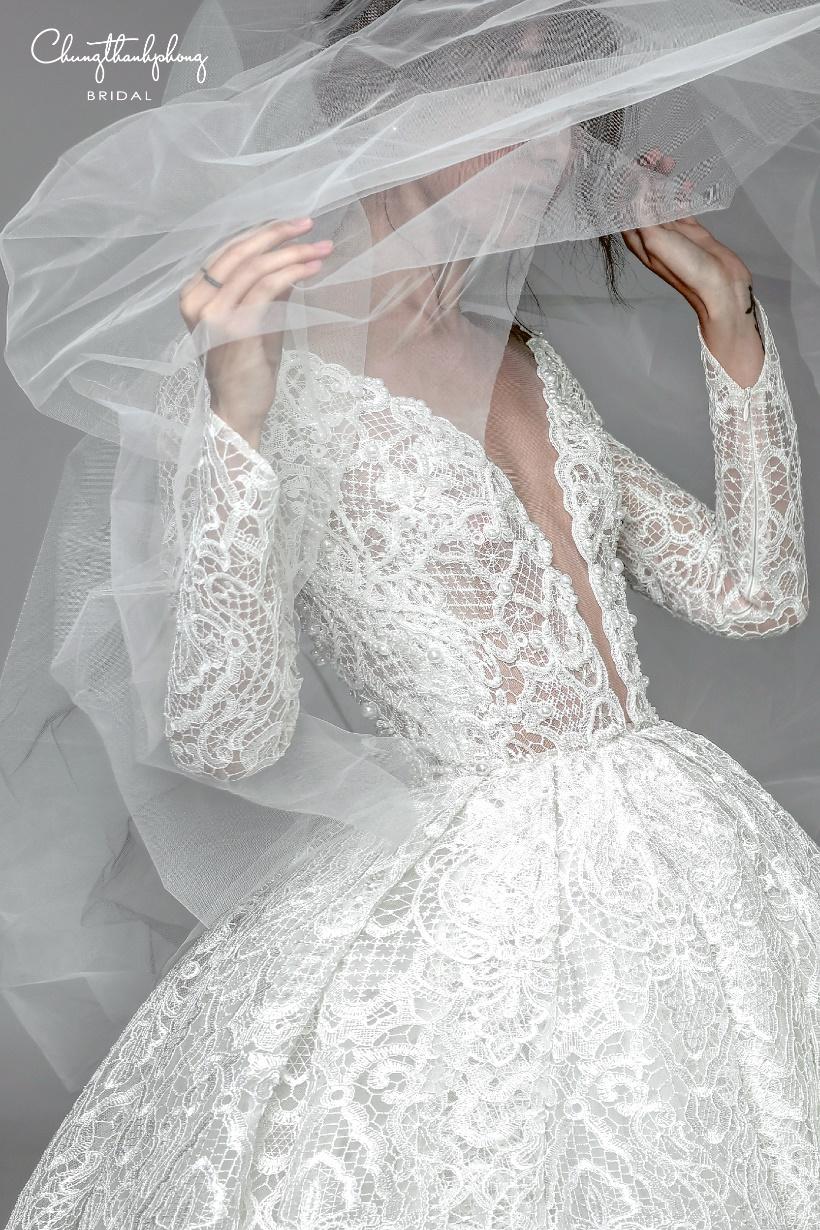Những mẫu váy cưới ren mới nhất 2017