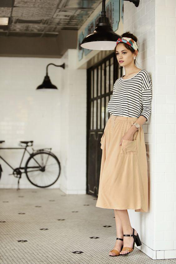 phong cách thời trang vintage elle vn