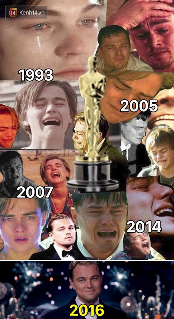 MXH ngập lụt ảnh chế Leo: Tượng vàng Oscar - Lần này là anh cầm thật đấy nhé! - Ảnh 1.