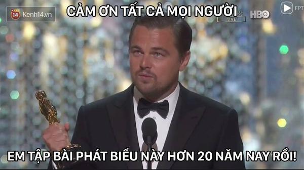 MXH ngập lụt ảnh chế Leo: Tượng vàng Oscar - Lần này là anh cầm thật đấy nhé! - Ảnh 9.