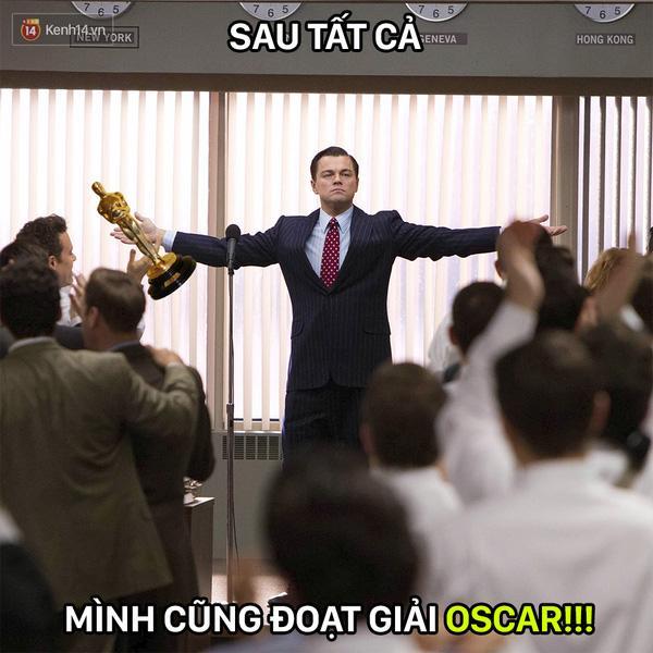 MXH ngập lụt ảnh chế Leo: Tượng vàng Oscar - Lần này là anh cầm thật đấy nhé! - Ảnh 5.