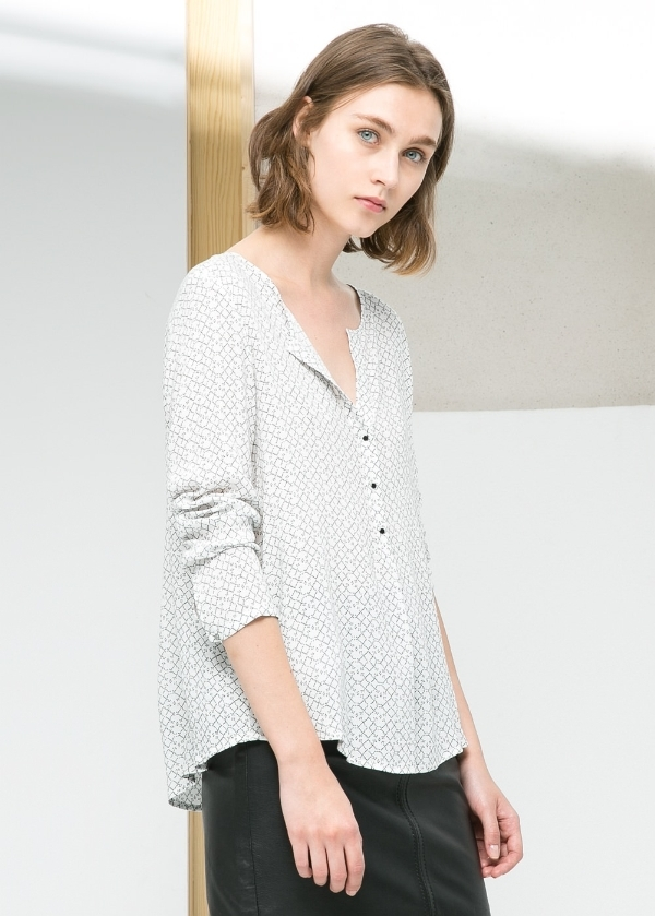 Lightweight printed shirt