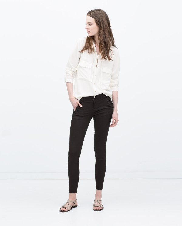Image 1 of INVISIBLE ZIP TROUSERS from Zara