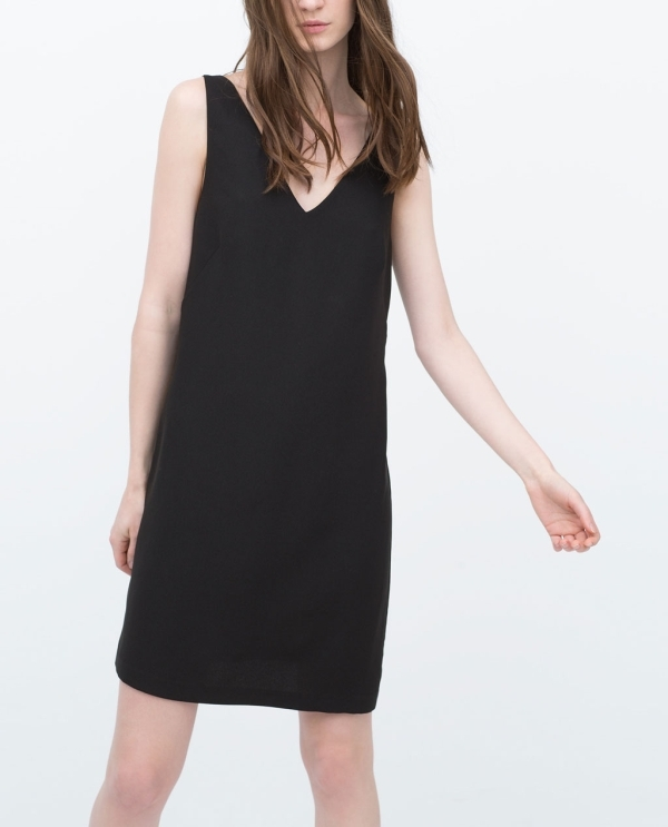 Image 3 of DOUBLE STRAP WRAP DRESS from Zara