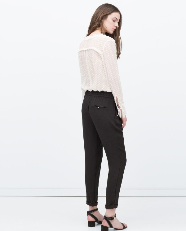 Image 3 of DRAWSTRING WAIST TROUSERS from Zara