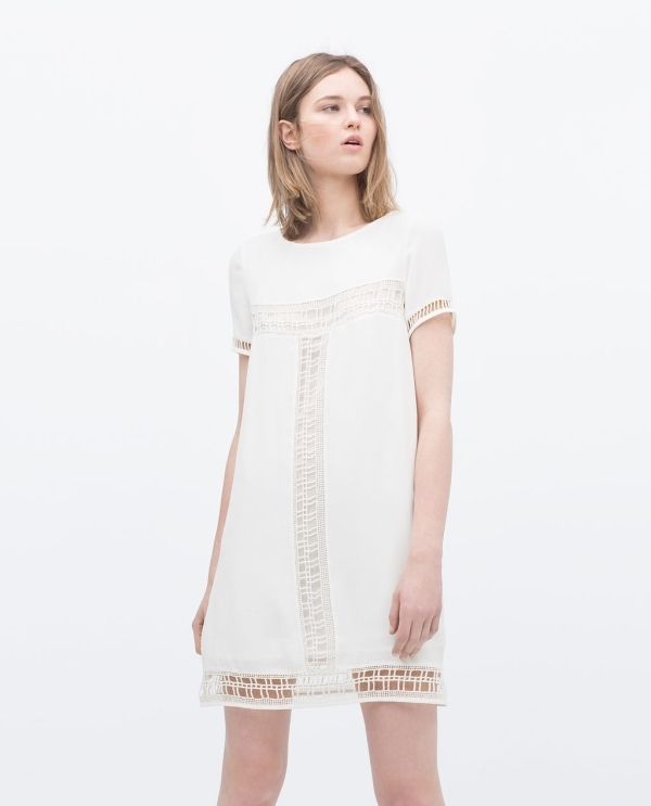 Image 2 of DECORATIVE HEM DRESS from Zara