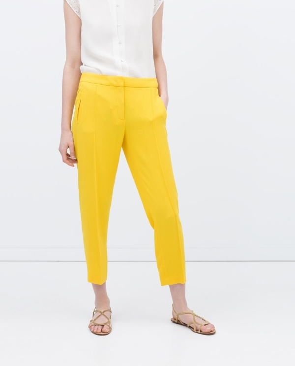 Image 2 of TROUSERS WITH ELASTICATED WAIST from Zara