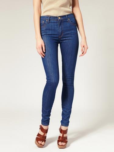 Chọn quần jeans cạp cao