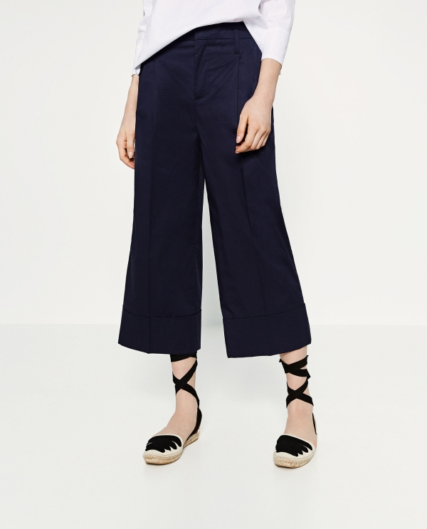 TROUSERS WITH TURN-UP HEM