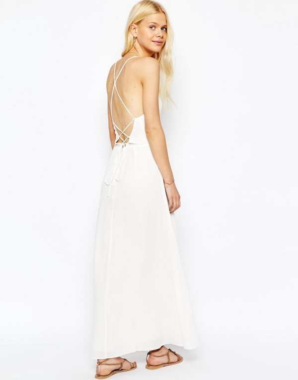 Image 1 of ASOS Maxi Dress with Tie Back