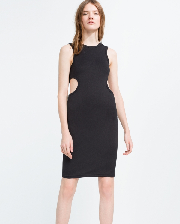 DRESS WITH CUT-OUT SIDES