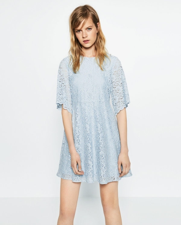 FLOUNCE SLEEVE DRESS