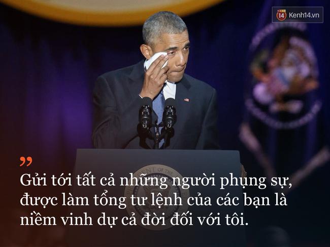9 câu nói ấn tượng trong bài phát biểu cuối cùng khép lại hành trình 8 năm của Tổng thống Barack Obama với nước Mỹ
