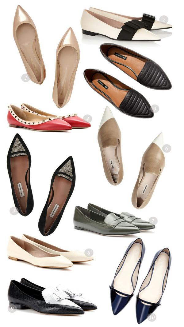 Những đôi giày bệt mũi nhọn theo chân quý cô từ công sở tới tiệc tùng