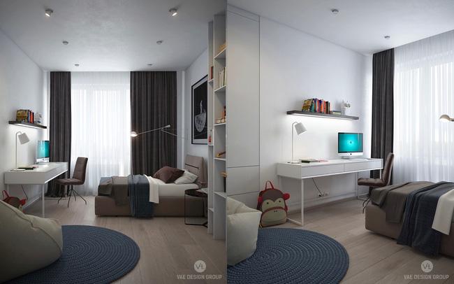 """Hai căn hộ diện tích nhỏ dưới 50m² cho vợ chồng trẻ khiến người xem phải """"ghen tị"""" - Ảnh 19."""