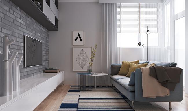 """Hai căn hộ diện tích nhỏ dưới 50m² cho vợ chồng trẻ khiến người xem phải """"ghen tị"""" - Ảnh 1."""