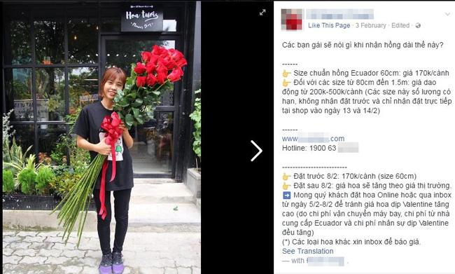 Cành hồng đỏ cao bằng cô gái trẻ giá 500.000 gây sốt mùa Valentine năm nay - Ảnh 2.