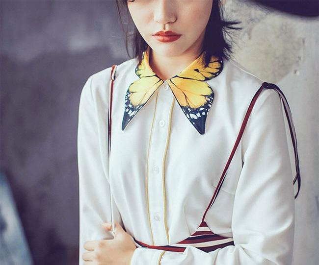 10 gợi ý cổ áo sơ mi độc - đẹp - lạ dành cho các bạn nữ - Ảnh 5.