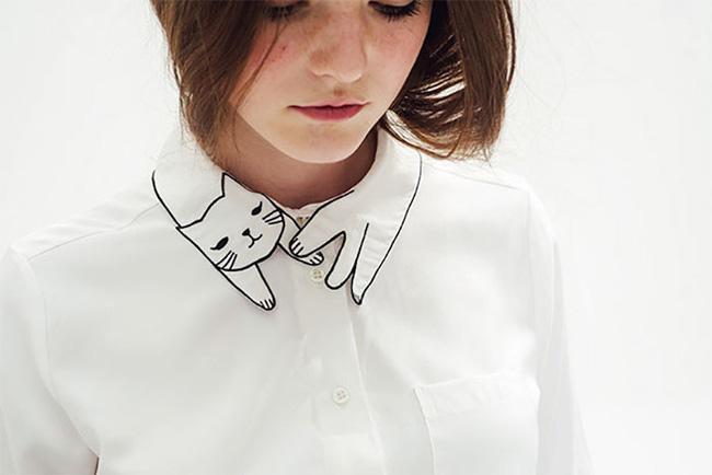 10 gợi ý cổ áo sơ mi độc - đẹp - lạ dành cho các bạn nữ - Ảnh 11.